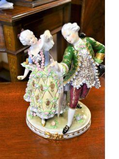 Naples porcelain figure