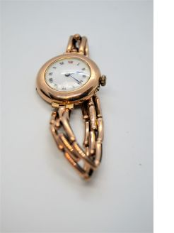 9ct gold ladies wrist watch