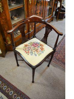Mahogany corner chair