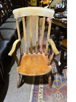 Victorian pine armchair