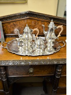Five piece silver tea-set