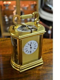 Brass carriage clock (repeater)