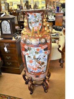 19th Century Japanese vase on stand