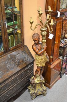 Italian carved wooden blackamoor figure