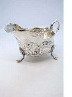 Irish silver cream jug