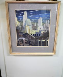Framed watercolour by local artist