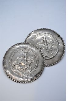 Pair of Dutch silver buttons