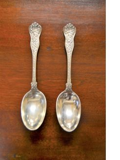 Pair of sterling silver spoons