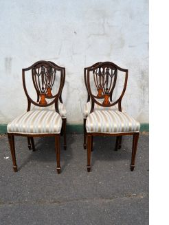Set of four mahogany chairs