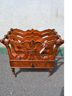 Victorian mahogany canterbury