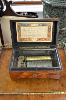 Walnut cased music box