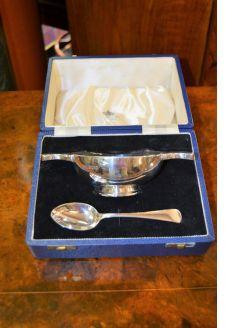 Silver Quaich & spoon