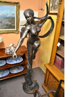 Solid bronze art deco style, figure / sculpture