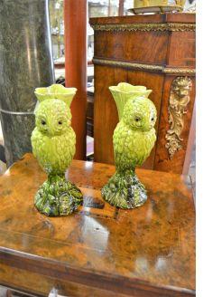 Pair porcelain pottery vases
