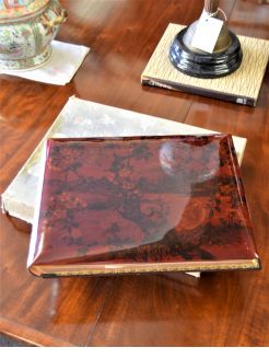Japanese lacquered photo album