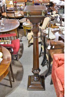 Victorian mahogany pedestal coat stand