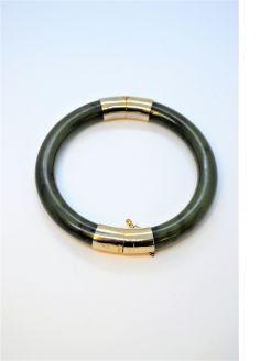 Gold & jade bracelet