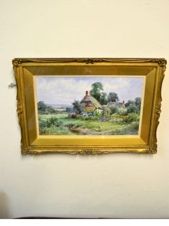 Watercolour in gilt frame