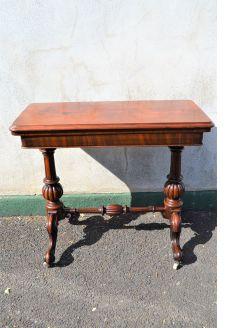 Victorian mahogany card table