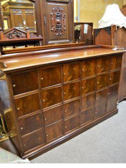 Large 19th century mahogany cabinet