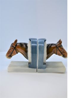 Pair of goebel porcelain bookends