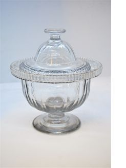 Victorian glass bowl & cover
