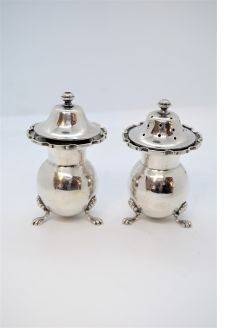 Silver salt & pepper pots