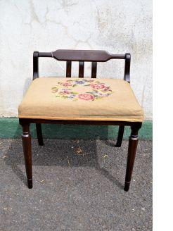 Mahogany music stool