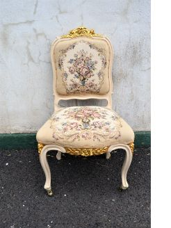 Gilt & painted occasional chair