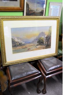 Victorian gilt framed watercolour