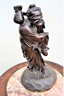 Chinese hardwood carved figure