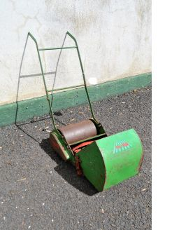 Vintage webb mini lawnmower