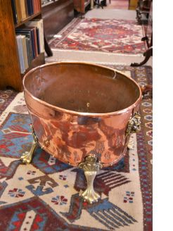 Copper & brass planter