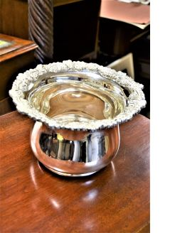 Plated wine cooler