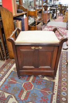 Mahogany music stool /seat