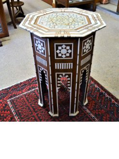 Moorish inlaid table