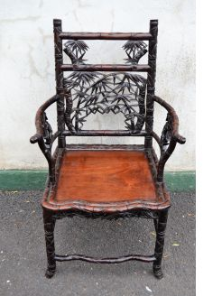 Chinese carved hardwood chair