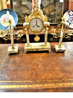 French three piece clock set