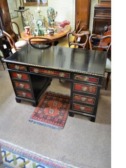 Chinese style ebonised desk
