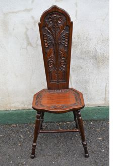 Oak spinning chair