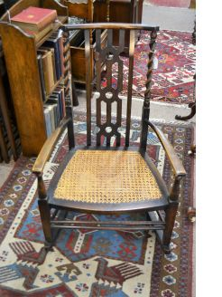 1920s oak rocking chair