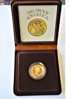1981  cased proof sovereign