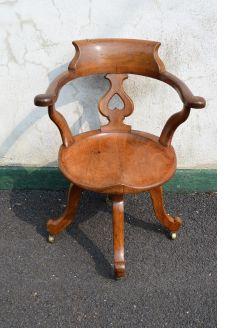 Victorian oak swivel chair