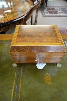 19th century rosewood fitted box
