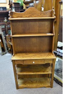 Oak open bookcase