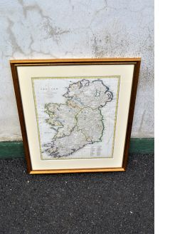 Gilt framed irish map
