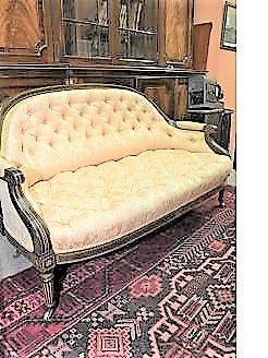 Victorian button back settee