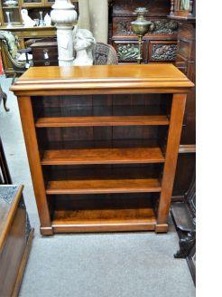 Victorian mahogany floor bookcase