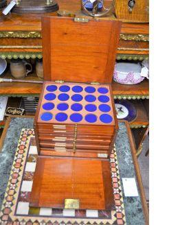 Victorian mahogany coin cabinet