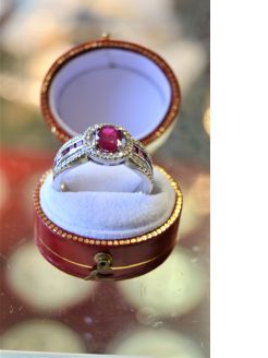 18ct gold & ruby ring
